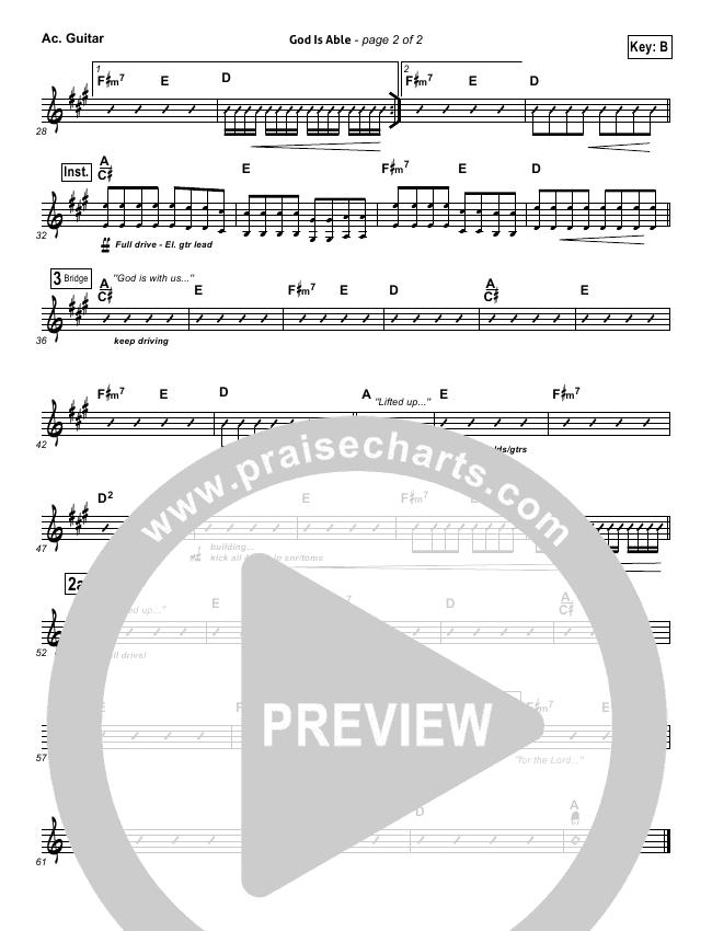 God Is Able (Choral) Rhythm Chart (Hillsong Worship)