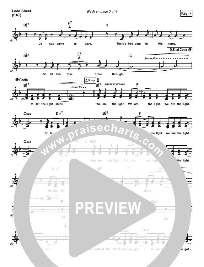 We Are Piano/Vocal Pack (Kari Jobe)