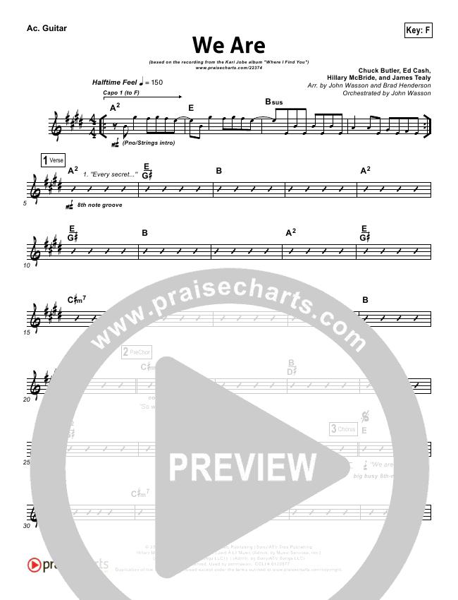 We Are Rhythm Chart - Kari Jobe   PraiseCharts