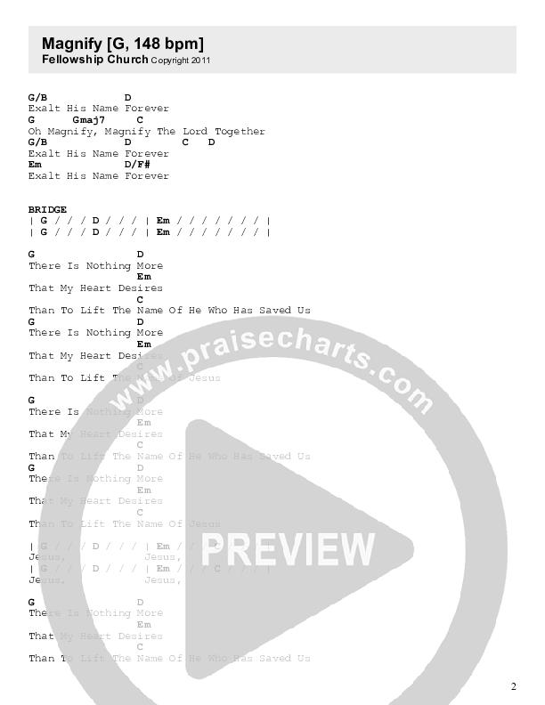 Magnify Chord Chart (Fellowship Creative)