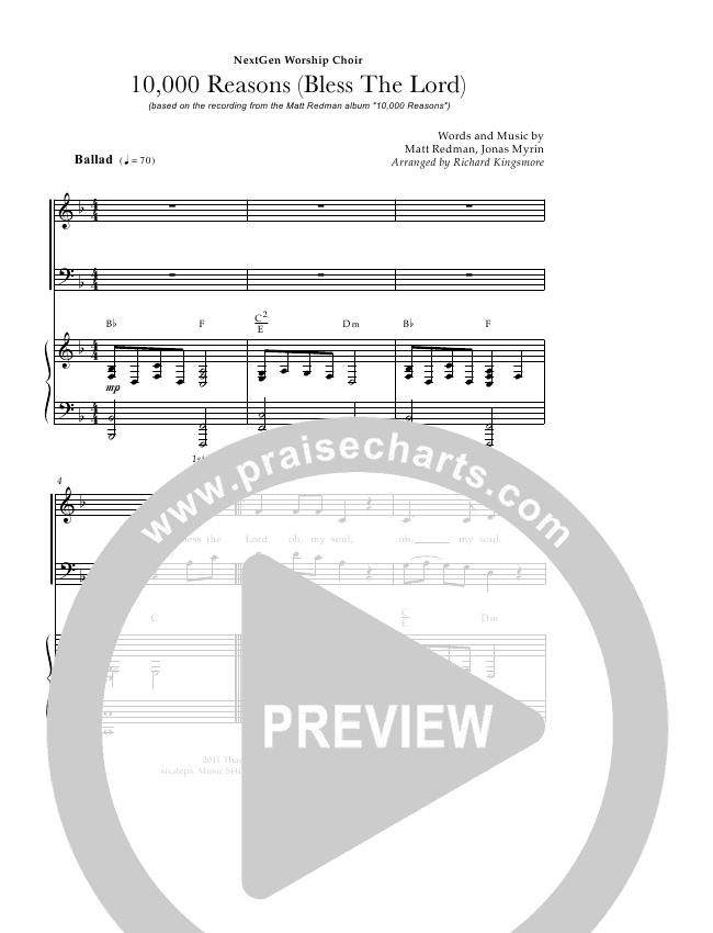 10000 reasons piano sheet music pdf