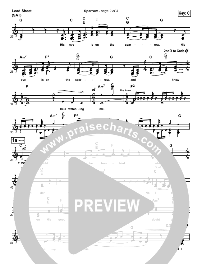 Sparrow Lead & Piano/Vocal (Audrey Assad)