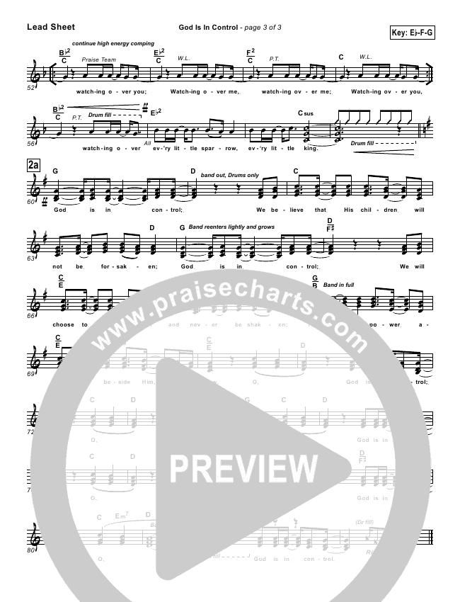 God Is In Control Lead & Piano/Vocal (Twila Paris)