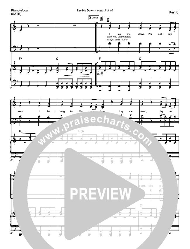 Lay Me Down Piano/Vocal (SATB) (Passion / Chris Tomlin / Matt Redman)