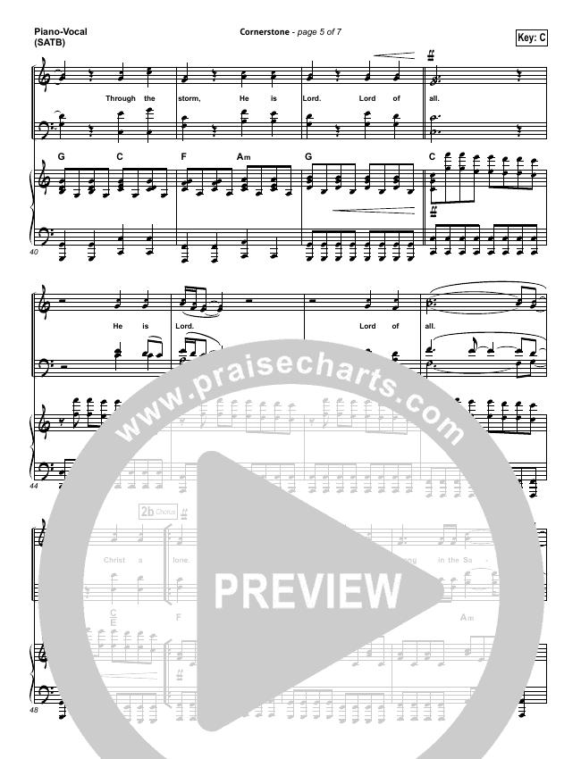 Cornerstone Piano Sheet Music Erkalnathandedecker