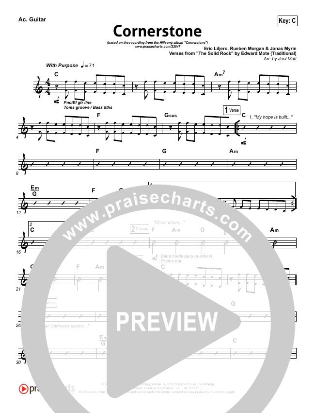 Cornerstone Rhythm Chart Hillsong Worship Praisecharts