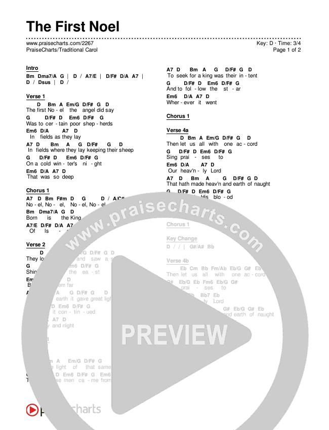 The First Noel Chords & Lyrics ()