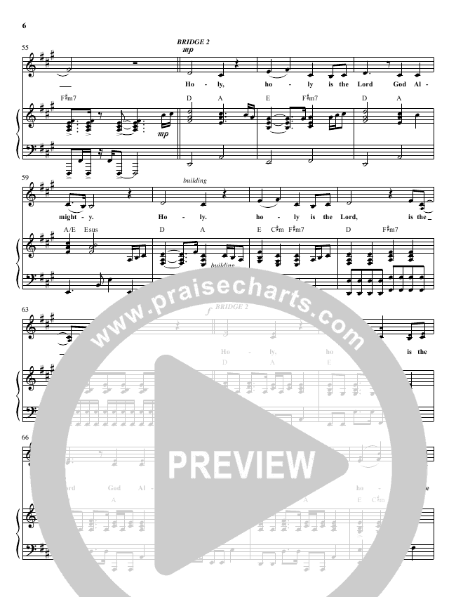 Hallelujah To The Lord Lead Sheet Pianovocal Planetshakers