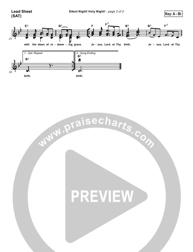 Silent Night Orchestration (Traditional Carol / PraiseCharts)