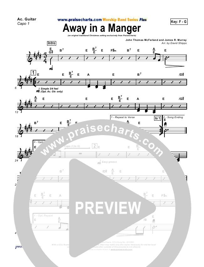 Away In A Manger Rhythm Chart Traditional Praisecharts