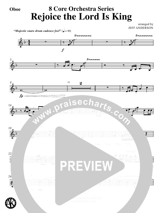 rejoice the lord is king sheet music pdf
