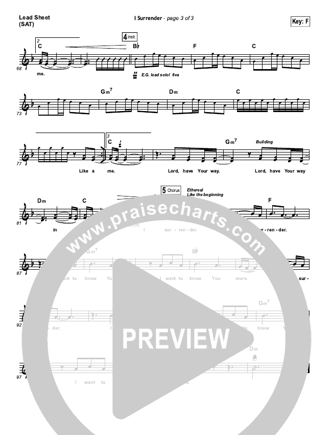 I Surrender Orchestration & Finale (Hillsong Worship)