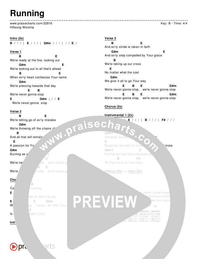 "Hillsong ""running"" sheet music in b major download & print sku."