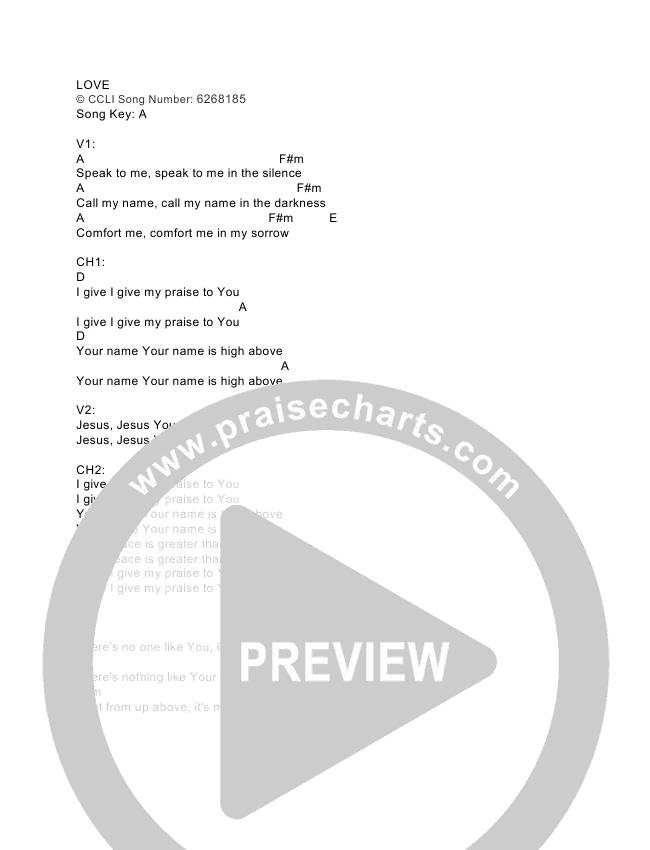 Love Chord Chart (The Royal Royal)