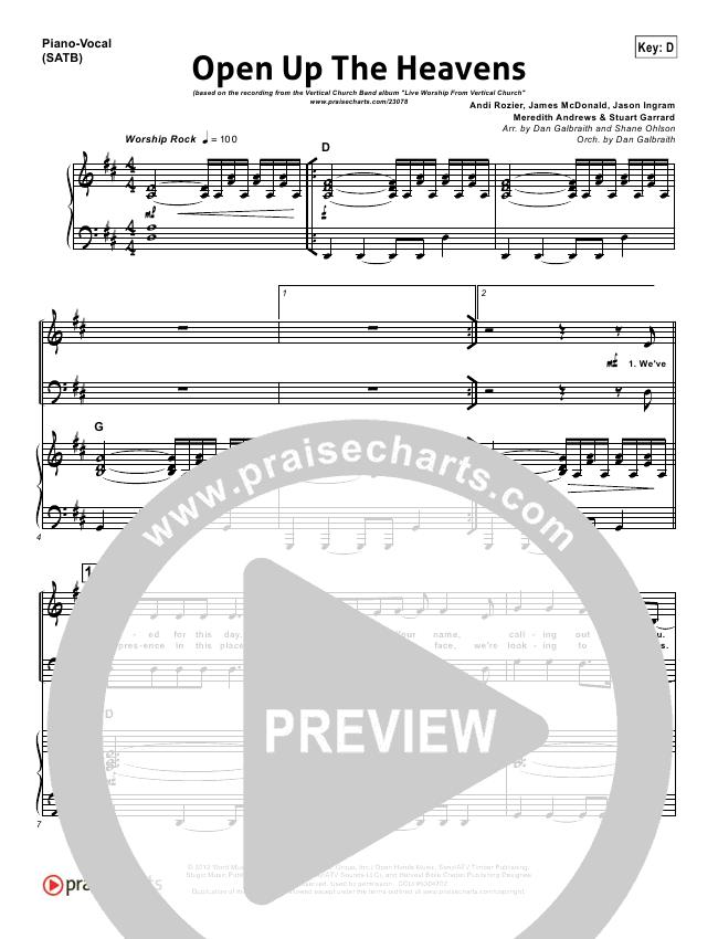 open up the heavens sheet music - Heart.impulsar.co