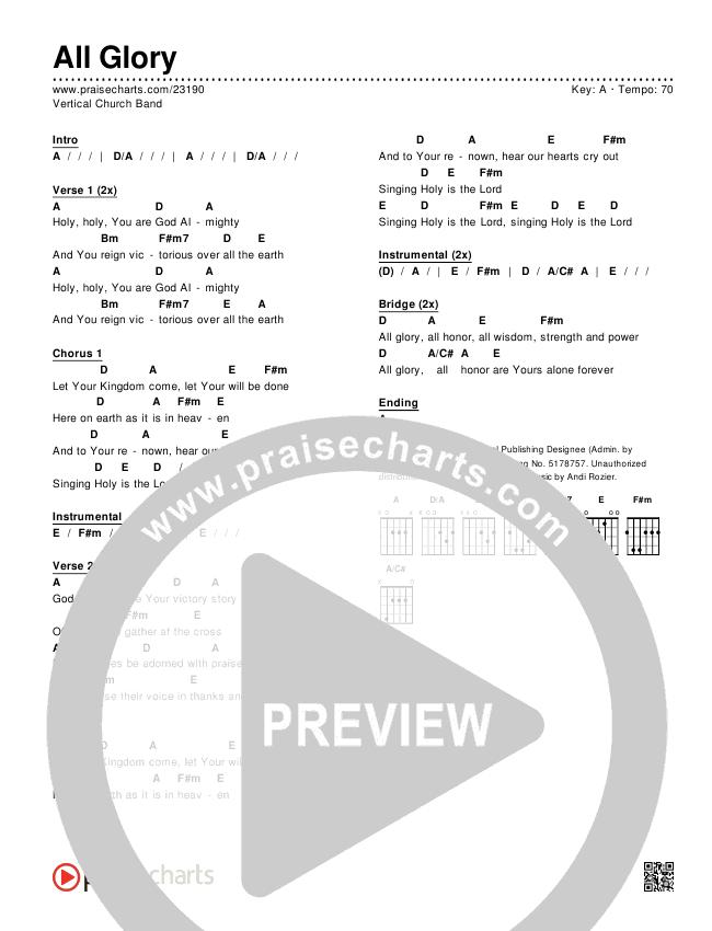 All Glory Chords & Lyrics (Vertical Worship)