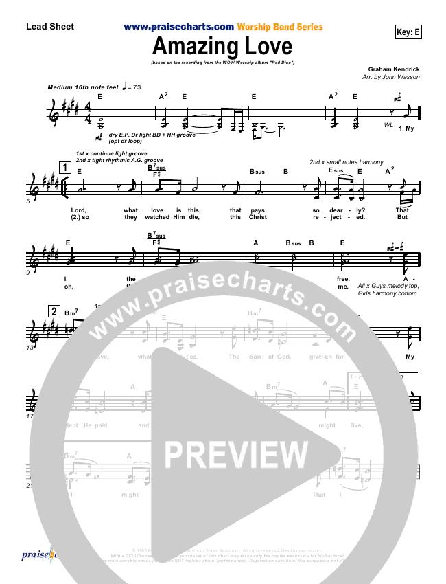 Amazing Love Lead & Piano/Vocal (Graham Kendrick)