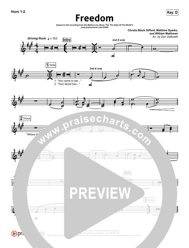 Freedom Brass Pack (Bethel Music)