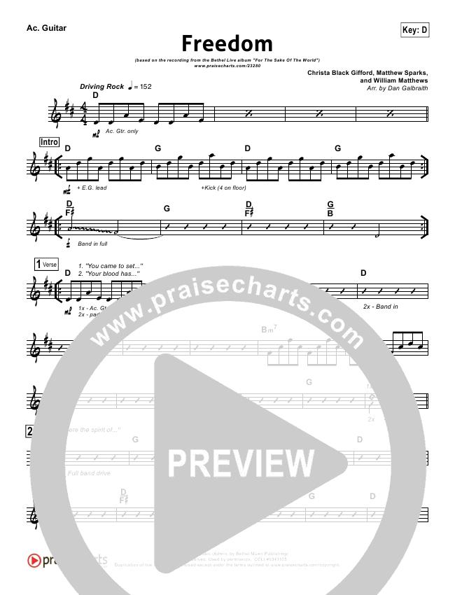 Freedom Rhythm Chart (Bethel Music)
