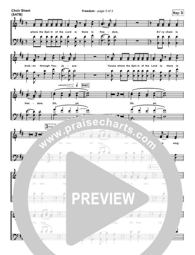 Freedom Choir Sheet (SATB) (Bethel Music)