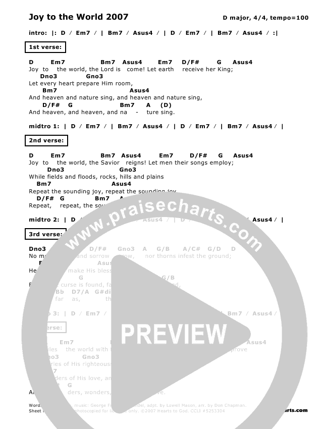 Joy To The World Chords Gallery Piano Chord Chart With Finger