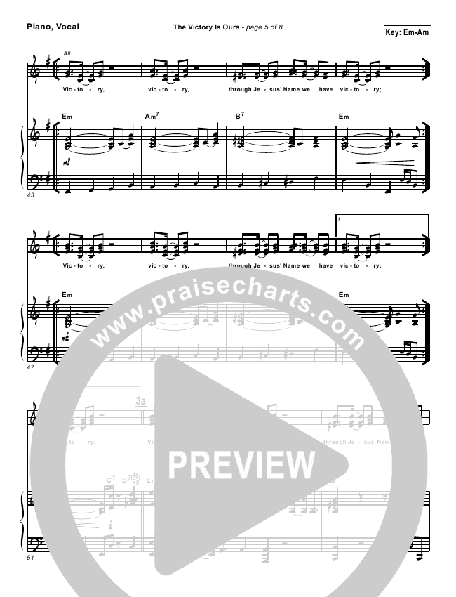 The Victory Is Ours Lead Sheet Pianovocal Geron Davis