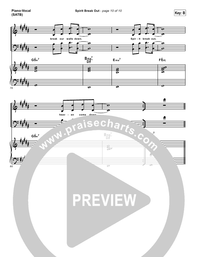 Spirit Break Out Lead Sheet & Piano/Vocal - Worship Central ...