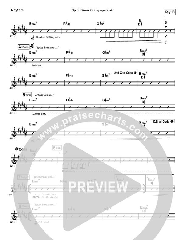 Spirit Break Out Rhythm Chart (Worship Central)