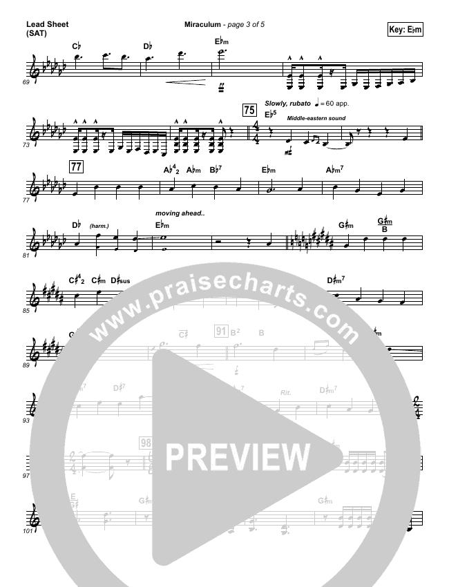 Miraculum Lead Sheet (SAT) (Lincoln Brewster)