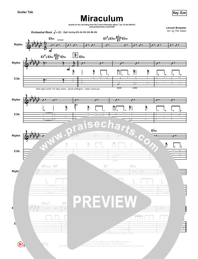 Miraculum Guitar Tab (Lincoln Brewster)