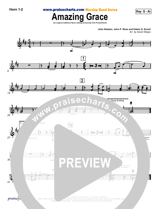 Amazing Grace Brass Pack (PraiseCharts / Traditional Hymn)
