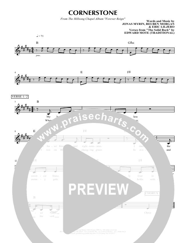 Cornerstone Lead & Piano/Vocal (Hillsong Worship)