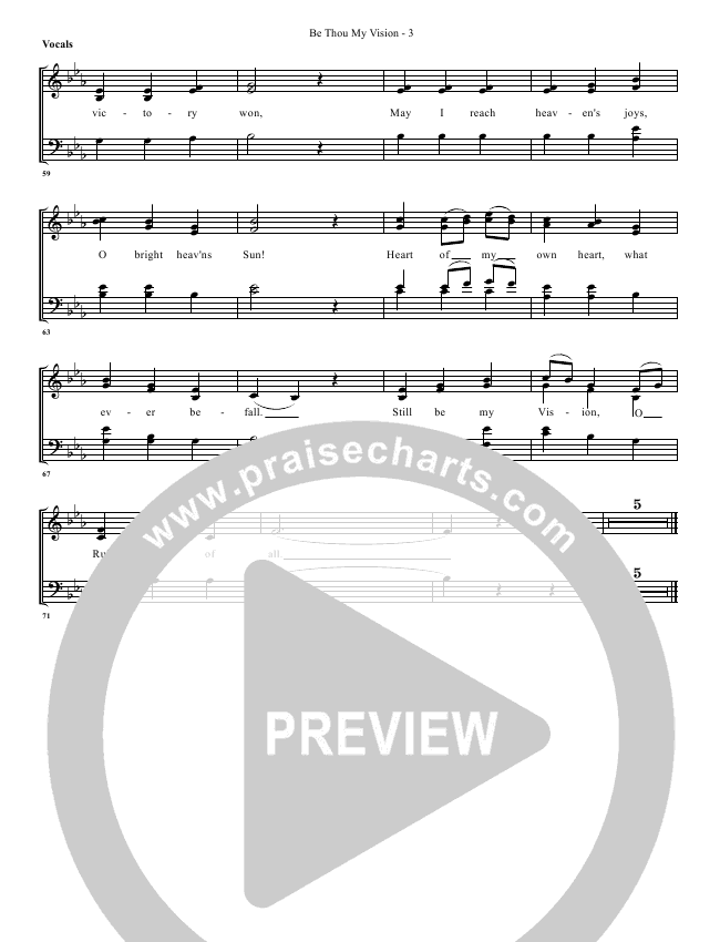 Be Thou My Vision Lead & Piano/Vocal (G3 Worship)