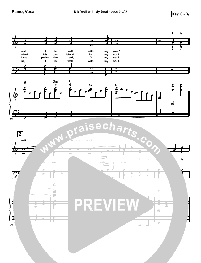 It is Well With My Soul Piano/Vocal (SATB) (PraiseCharts / Traditional Hymn)