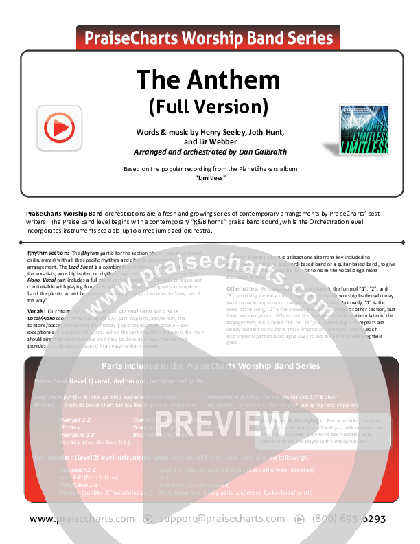 The Anthem (Full Version) (Live) Orchestration (Planetshakers)