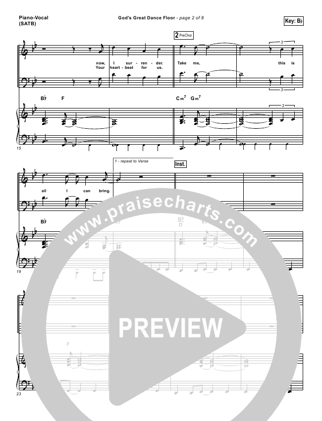 God S Great Dance Floor Lead Sheet Amp Piano Vocal Chris