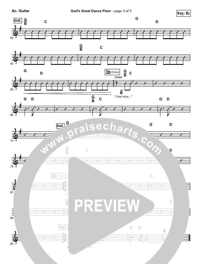 God's Great Dance Floor Rhythm Chart (Chris Tomlin / Passion)