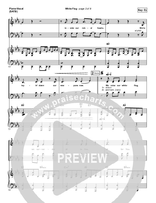 White Flag Piano/Vocal (SATB) (Chris Tomlin)