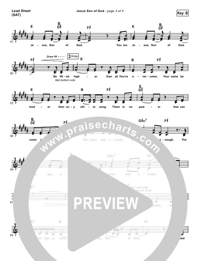 Jesus Son Of God Lead & Piano/Vocal (Chris Tomlin)