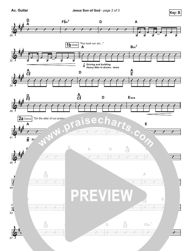 Jesus Son Of God Rhythm Chart (Chris Tomlin)