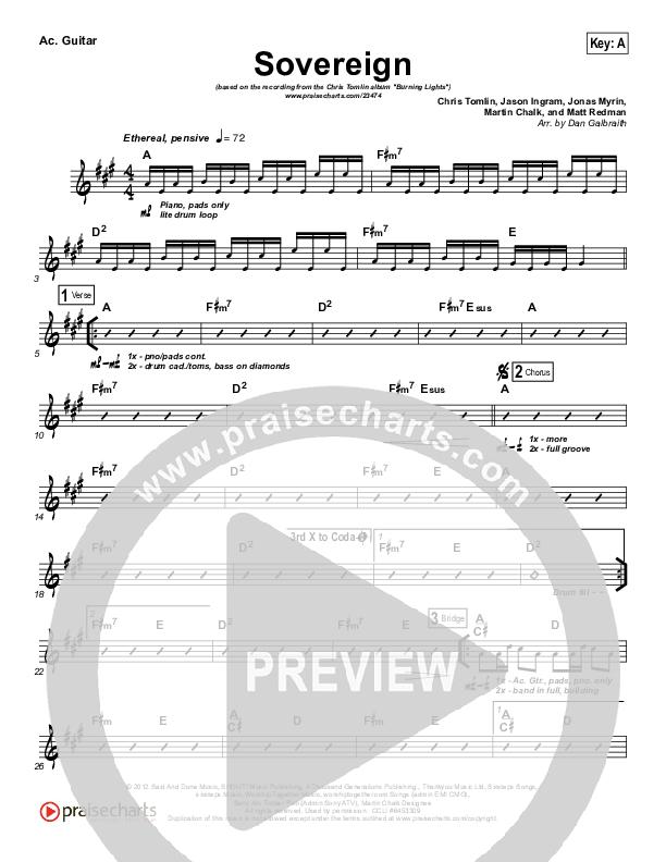 Sovereign Acoustic Guitar (Chris Tomlin)