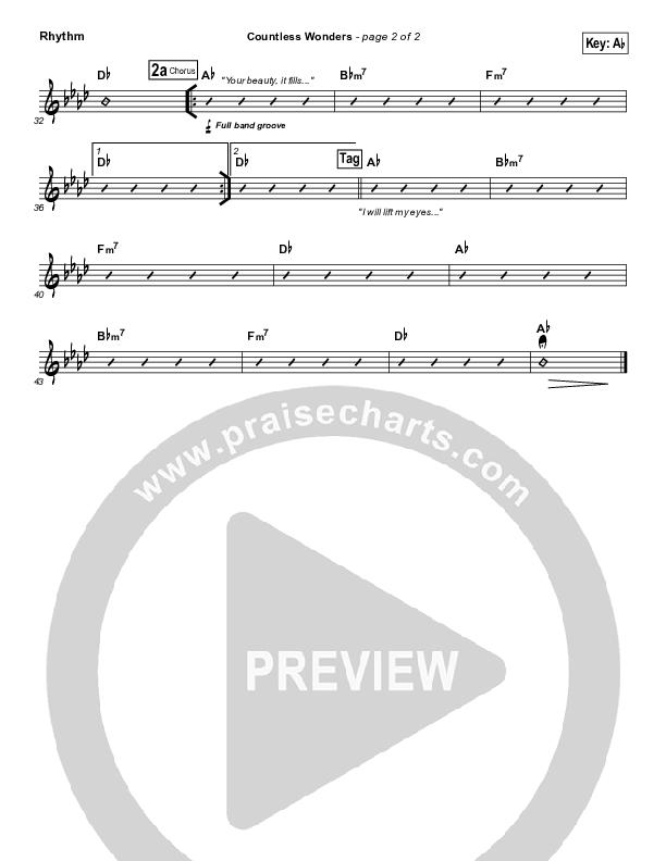 Countless Wonders Rhythm Chart (Chris Tomlin)