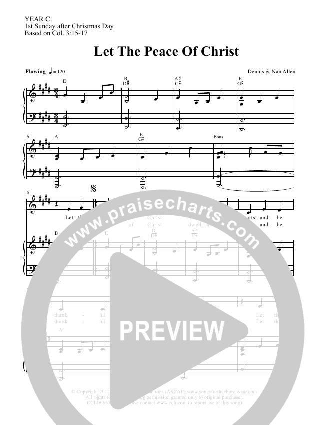 Let The Peace Of Christ Lead & Piano/Vocal (Dennis Allen / Nan Allen)