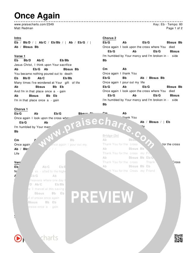 Once Again Chords & Lyrics (Matt Redman)