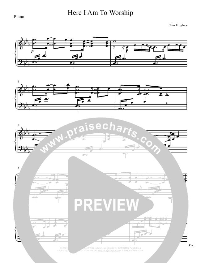 Here I Am To Worship (Instrumental) Sheet Music Version (Mark Hauth / Jeff Nelson)