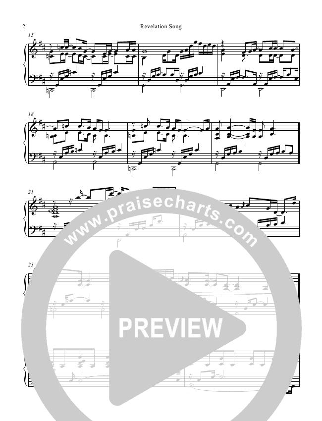 Revelation Song (Instrumental) Sheet Music Version (Mark Hauth / Jeff Nelson)