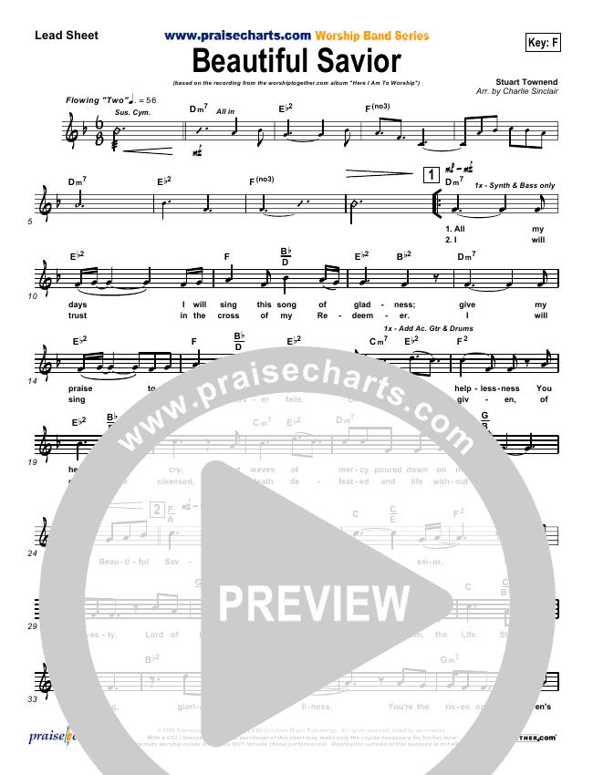 Beautiful Savior Lead & Piano (Tim Hughes)