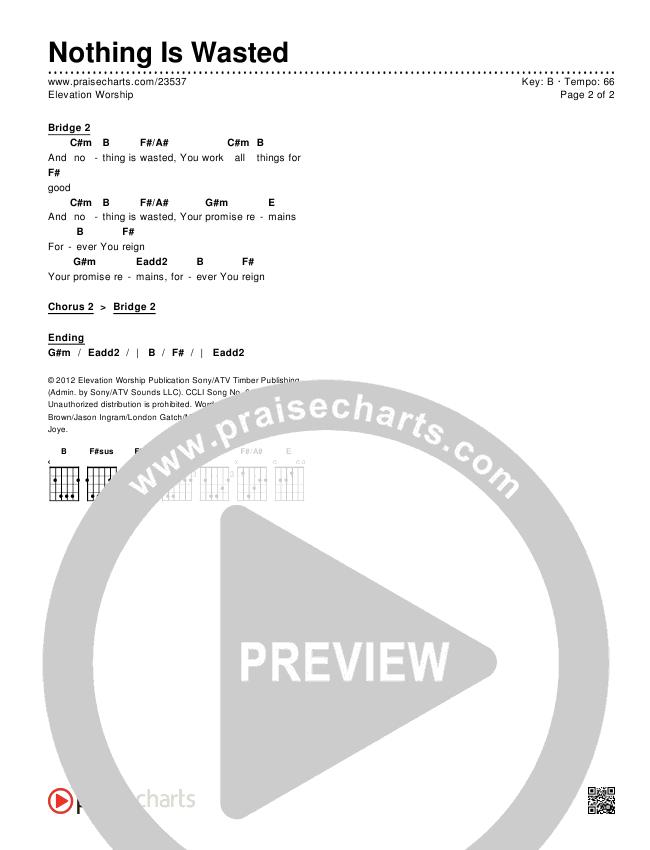 Nothing Is Wasted Chords & Lyrics (Elevation Worship)
