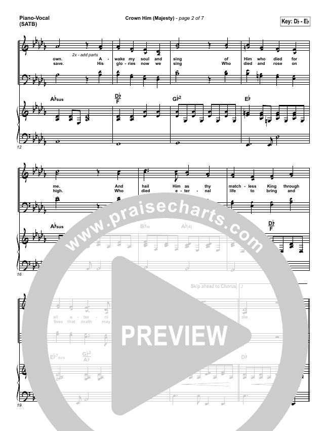 Crown Him (Majesty) Piano/Vocal (SATB) (Chris Tomlin)