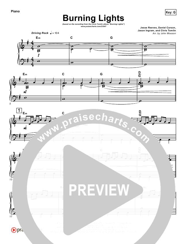 Burning Lights (Instrumental) Orchestration (Chris Tomlin)